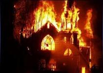 Pakistan - A Christian Church Set Alight By A Muslim Flash Mob