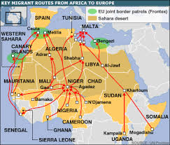 Africa Migrant Routes To Europe