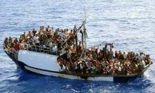 Overloaded Refugee Boat