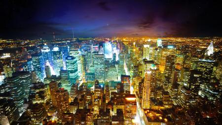 New York City Skyline At Night - A Shocking Waste Of Power, And It's Everywhere