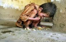 A Starving Child In India