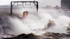 A Train Driver Braves The Weather