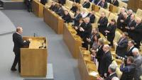 Russian President Address the Duma