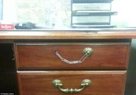 Broken drawer handle easily fixed!