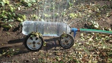 Sprayer busted? a multi-punctured bottle will do the trick.