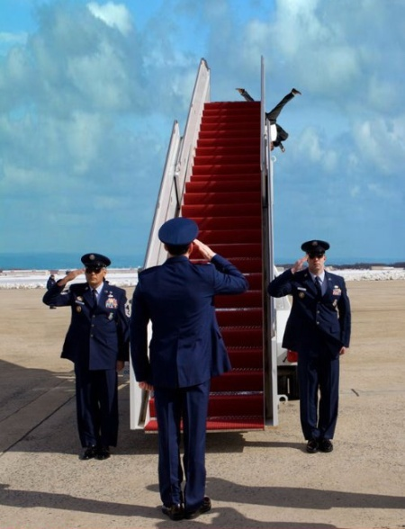 President Boards The New Invisible Air Force One