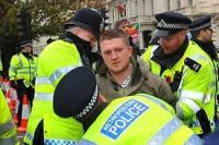 Arrested White Demonstrator