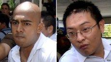 Myuran Sukumaran (L) and Andrew Chan