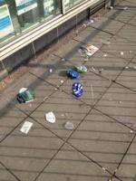 Litter On The Street -  A Regular Occurence In Europe