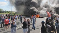French Workers Close Off The Channel Tunnel and Port Of Calais
