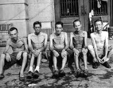 Prisoners of War In A Japanese Camp