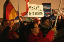 Anti-Merkel Sentiments In Germany