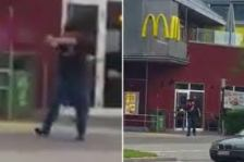 Gunman Outside McDonald's Shoots At Civilians