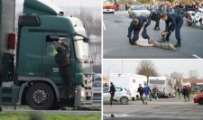 Attacking Lorry Driver