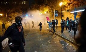 Violent Demonstrations Against Trump In America