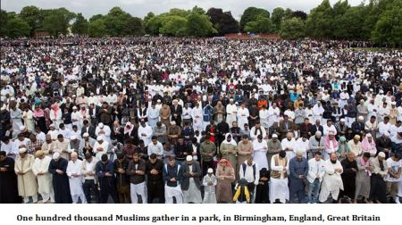 One Hundred Thousand Muslims Gather In Birmingham UK